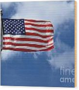 American Flag Wood Print by Amy Cicconi