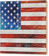 American Flag Art - Old Glory - By Sharon Cummings Wood Print