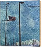 American Flag As A Painting Wood Print