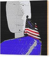American Flag Collage Tucson Arizona Mid 1980's-2013 Wood Print
