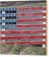American Flag Country Style Wood Print