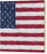 American Flag Embossed Wood Print