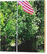 American Flag - Honoring John Wood Print by Tap On Photo