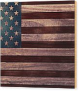 American Flag I Wood Print by April Moen