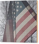 American Flag Wood Print by Jennifer Kimberly