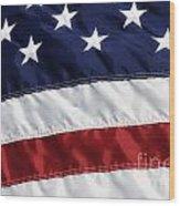 American Flag Wood Print by Jill Lang
