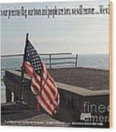 American Flag Wood Print by Laurence Oliver