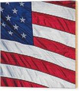 American Flag Wood Print by Leslie Banks