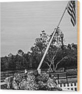 American Flag Monument Wood Print