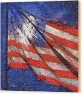 American Flag Photo Art 02 Wood Print