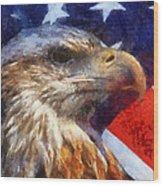 American Flag Photo Art 04 Wood Print