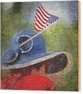 American Flag Photo Art 06 Wood Print
