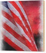 American Flag Photo Art 07 Wood Print