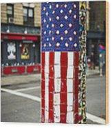 American Flag Tiles Wood Print by Garry Gay