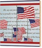 American Flag Tribute  Wood Print