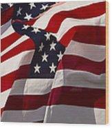 American Flags   #5147 Wood Print