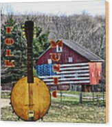 American Folk Music Wood Print