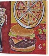 American Food Pop Art Wood Print