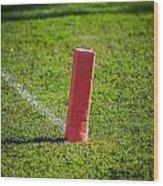 American Football Field Marker Wood Print