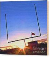 American Football Goal Posts Wood Print
