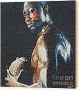 American Football Player Wood Print