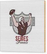American Football Series Finals Retro Wood Print