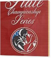 American Football State Championship Series Poster Wood Print