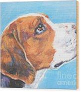 American Foxhound Wood Print