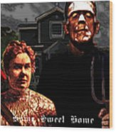 American Gothic Resurrection Home Sweet Home 20130715 Square Wood Print