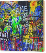 American Graffiti 15 - Crack Head Wood Print