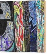 American Graffiti Wood Print