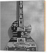 American Guitar In Black And White1 Wood Print