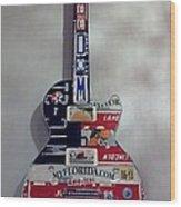 American Guitar Wood Print