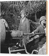American Gunners Load A Shell Wood Print