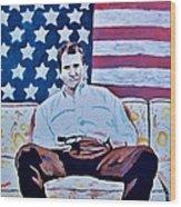 American Hero Wood Print
