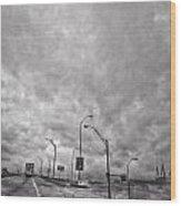 American Highway Wood Print