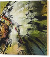 American Horse Wood Print