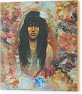American Indian Maiden Wood Print