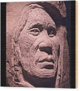 American-indian-portrait-1 Wood Print by Gordon Punt