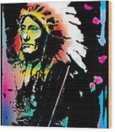 American Indian Silo Wood Print