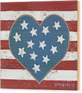 American Love Wood Print by Kristi L Randall