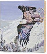 American Majesty  Wood Print by David Lloyd Glover