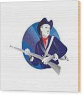 American Minuteman Revolutionary Soldier Wood Print