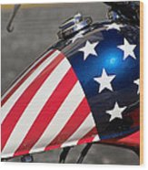 American Motorcycle Wood Print