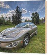 American Musclecar Firebird Wood Print
