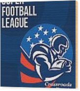 American National Super Football League Poster  Wood Print