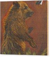 American Native Wood Print by Caroline Owen-Doar
