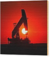 American Oil Wood Print