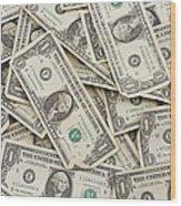 American One Dollar Bills Wood Print
