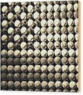 American Pastime In Sepia Wood Print